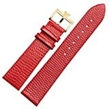 18mm 20mm Genuine Leather Watch Band Strap Buckle for Vacheron Constantin Watch (20mm, Red(Gold Buckle)) -  Richie strap
