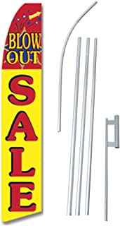 Pack Swooper Flags /& Pole Kits Red Yellow Blue Firework BLOW-OUT SALE 4 Four