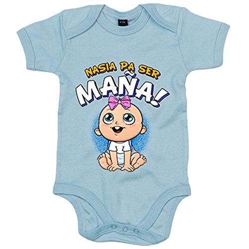 Body bebé nacida para ser Maña Zaragoza fútbol - Celeste, 12-18 meses
