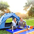 Lyklasse 3-4 Person Camping Tent,Automatic Instant Tent - Portable Waterproof Two Doors Easy Setup UV Protection Sun/Snow Shelter Tent for Outdoor,Hiking Mountaineering Travel
