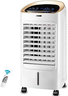 Fan Fan Nan Liang Ventilador eléctrico portátil, Ventilador de Aire Acondicionado móvil con Control Remoto y Temporizador de 9 Horas, refrigerador pequeño for el hogar - Blanco 65 W