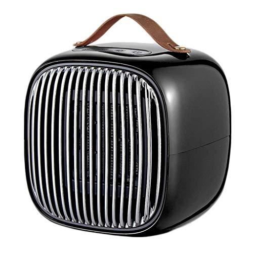 Fan di raffreddamento Mini Ceramic termoventilatore, 800W portatile tocco di calore elettrico raffreddano Modalità riscaldamento veloce Stufetta for Under Desk Piano Ufficio casa 220V, Rosso (Colore: