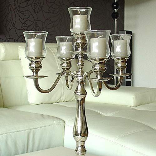 Dekowelten 5 x Teelichthalter aus Glas Gastro Version PL/Glasaufsatz für Kerzenleuchter Kerzenständer
