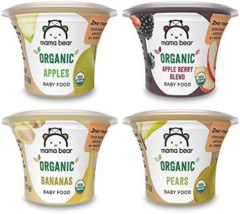 Amazon Brand Mama Bear Organic Baby Food Fruit Variety Pack 4 Ounce Tub Pack of 12 product image