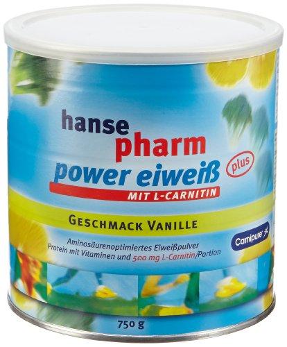 Hansepharm power eiweiß Vanille 750 gr, 1er Pack (1 x 750 g)