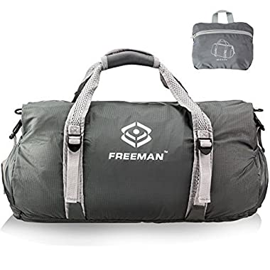 Small Sports Duffel Gym bag for Men Women Kids,Lightweight Foldable with Pockets
