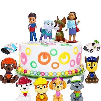 WELLXUNK® Topper Tarta Decoración, Cake Juguetes Decoración, Paw Patrol Cake, Caricatura Cake Topper, Niños Mini Juguetes Baby Shower Fiesta Cumpleaños Pastel Decoración Suministros de LIZHIGE