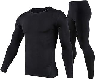PISIQI Men Thermal Underwear Set Winer Skiing Warm Top Thermal Long Johns