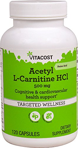 Vitacost Acetyl L-Carnitine HCl - 500 mg - 120 Capsules