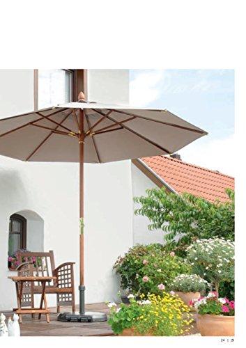 POLYACRYL-TEFLON ® hoezen - 250 x 250 cm Ø - EXCLUSIEF - HOUT zonnescherm - 100% POLYACRYL - TEFLON ® UPF 50+- zonder volant, met windopening, lederen versterking, incl. beschermhoes - Model: BANGKOK - ZANGENBERG - GERMANY - 250 x 250 cm Ø - 8 stuks - 9 kleuren - bij bestelling de kleur opgeven: GRIJS - BRUIN - LIMETTE - GROEN - TERRACOTTA - MEERBLAUW - ROOD - GEEL - ZWART - MAST 48 mm Ø - Verkoop : Holly ® producten STABIELO ® - Holly-sunshade ® - In de prijs zijn de verzendkosten inbegrepen - Inhoud: ca. 4 weken.
