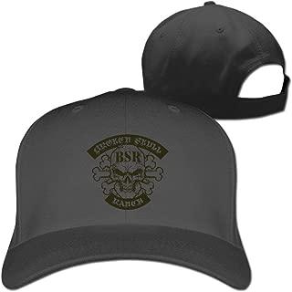 Jssmao Classic Broken Skull Ranch Hat Men&Women Peaked Adjustable Natural