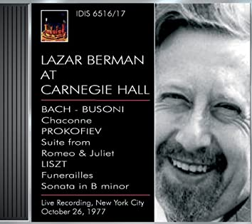 Berman, Lazar: Lazar Berman at Carnegie Hall (26 October 1977)