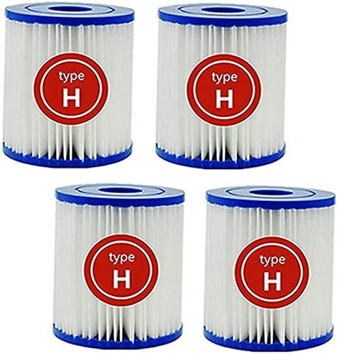 Para cartucho de filtro tipo H, repuesto para filtro de piscina Intex 29007, filtro Krystal Clear modelo 601, filtro de piscina fácil set (paquete de 4)
