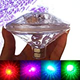 Luci della Piscina di SUNSETGLOW, luci galleggianti del laghetto del LED Giocattoli della Vasca da Bagno del Bambino luci galleggianti per la Vasca Calda, Festa in Piscina della Disco(7 Modi, a Pile)