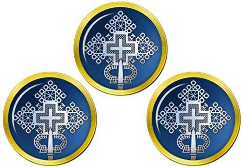 Giftshop UK Ethiopian Cross Golfball Markierer