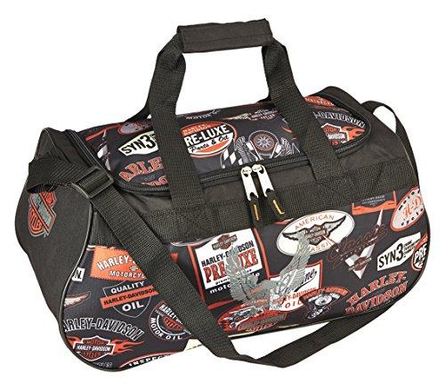 Harley-Davidson Logo Sport Duffel, Unisex-Erwachsene Reisetasche, schwarz (Schwarz) - 99418