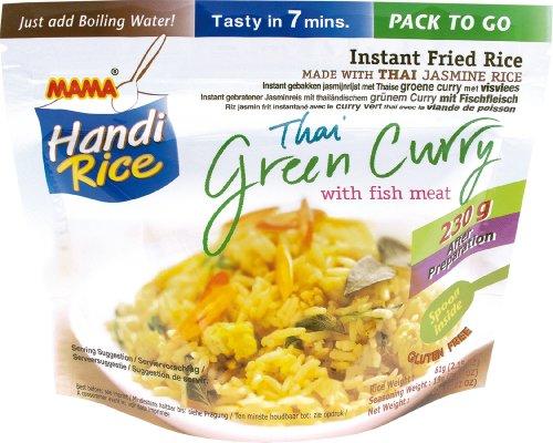 MAMA Arroz Instantáneo Curry Verde Pescado 10x80gr