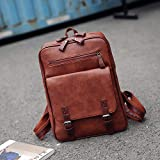HNKHKJ PU Man Women Travel Laptop Backpack para Macbook Air Pro 11 12 13 15 Retina Laptop Handbag para Lenovo HP-Brown_41x30x9cm