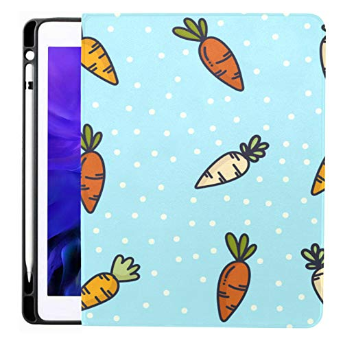 Ipad Pro 12.9 Case 2020 & 2018 With Pencil Holder Doodle Carrot Pattern Smart Cover Ipad Case, Supports 2nd Gen Pencil Charging,case For 2020 Ipad Pro 12.9 Cover With Auto Sleep/wake