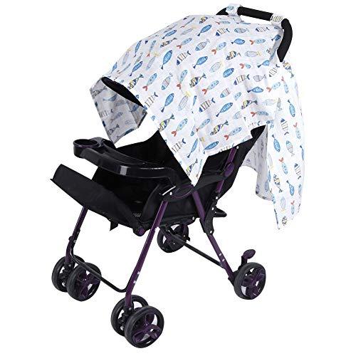 Kinderwagen, overkapping, multifunctionele kinderwagen, stoelbekleding, verzorging, sjaal, winddichte zonwering, plafond, babystof B