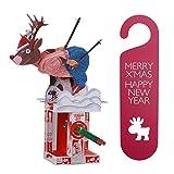 Automata Paper Machine Moving Model (Fun & Educational DIY Toy Project) Designed by Keith Newstead + Bonus X'Mas Doorknob Hanger Bundle Set (Sliding Deer + X'Mas Door Knob Hanger (Red))