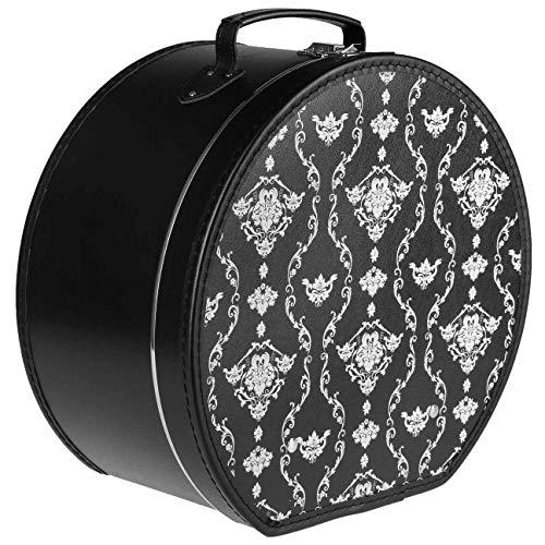 Lierys Caja para Sombrero Ornamentos Mujer/Hombre - Verano/Invierno - Talla única Negro