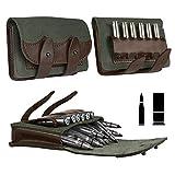BronzeDog Leather Ammo Cartridge Belt Shell Holder Rifle Pouch Shotgun Bag Hunting Wallet .30-30 .308 .30-06 Сaliber 12 (16) Gauge (7.62 Caliber)