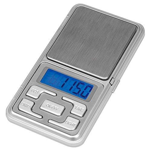 Darts Corner Mini Pocket–Elektronische Digital Waage Zum Wiegen Darts–200g–Genauigkeit 0,01g–LCD-Display–Silber