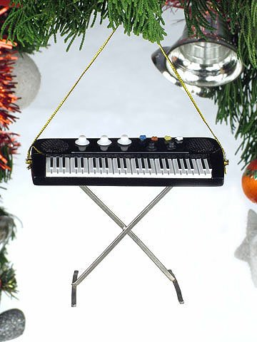 4' Electric Keyboard Musical Music Instrument Ornament Christmas Tree Decoration