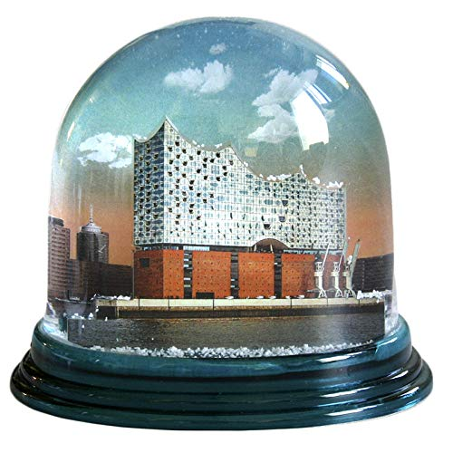 Schneekugel Elbphilharmonie Hamburg Schüttelkugel Glitzkugel made in Germany