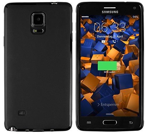 mumbi Hülle kompatibel mit Samsung Galaxy Note 4 Handy Hülle Handyhülle, schwarz