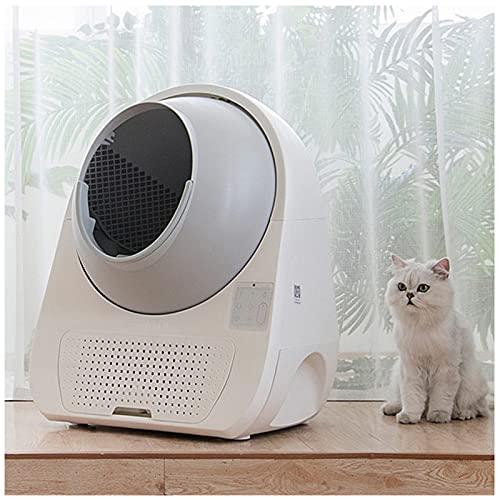 MEILINL Inteligente Automático Arenero Gatos Autolimpiable Grande Antisalpicaduras Gato WC, Diseño Que Ahorra Espacio Se Adapta A Cualquier Rincón De Su Habitación