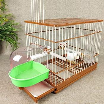 POPETPOP Bain doiseau pour Cage - Baignoire Perruche avec Tuyau de Remplissage deau pour Perruche Conure Canard cockar Perroquet Oiseau touriste Accessoires de Bain