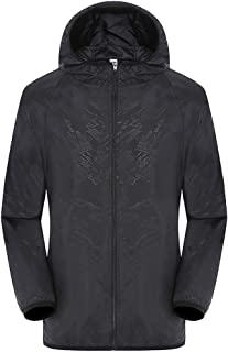 Rajendram Ultra-Light Rainproof Windbreaker Jacket Breathable Waterproof Windproof for Women Men