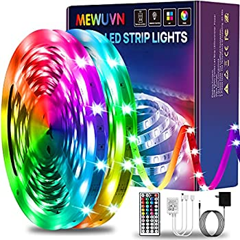 Mewuvn 65.6ft RGB Color Changing Led Light Strips