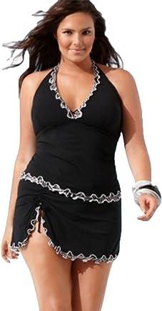 fed5ca645aa4a Combishort Femme Ete Chic Jumpsuit Sexy Dentelle Taille Haute Mode Maillot  De Bain Bikini Mode Pas