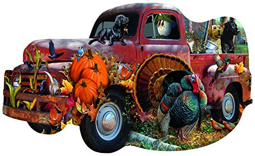 Harvest Truck 1000 pc Special Shaped Jigsaw Puzzle by SUNSOUT INC