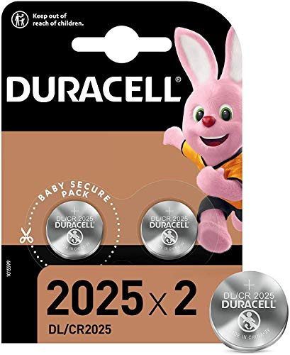 2er Set Duracell Knopfzelle Lithium Batterie (CR2025 D)