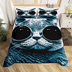 fun cat print bedding sets