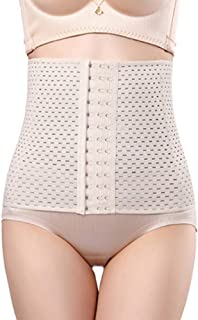 Hollow Breathable Corset, Abdomen Belt Postpartum Protection Belt Fitness Weight Loss Tights Corset Unisex 2 Colors Large Size S ~ 5XL