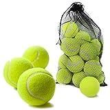 Bramble 15 Pelotas de Tenis Duras - Ideales para Deportes, Partidos y Juegos en la Playa. Incluye Bolsa de Malla para transportarlas