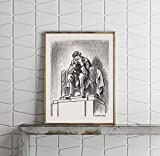 Photograph Size: 9x12 | Ready to frame in any standard size frame | Frame Not Included Photograph Description: Statue of Abraham Lincoln, at the Lincoln Memorial, crying Creator(s): Mauldin, Bill, 1921-2003, artist Published: c1963. Summary: Print sh...