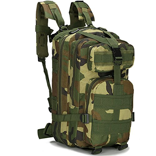 Candora ™ 30L extérieur Sac à Dos de randonnée Camping Sac armée Tactique Militaire Trekking Sac à Dos Camo