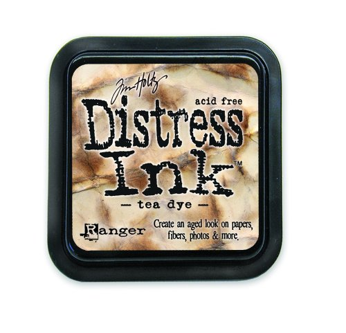 Ranger 18780604 Tim Holtz Distress Ink Pad, Tea Dye, 7.5 x 7.5 x 4 cm