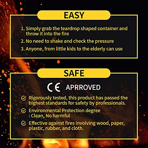 WDN Home Fire Extinguisher Kit for Instant Fire Suppression on Early Stage Fires | Fire Spread Prevention – Extinguishes Household Fires in Less Than 5 Seconds | Indoor/Outdoor.