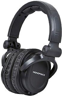 Monoprice Premium Hi-Fi DJ Style Over-The-Ear Pro Headphones with A Single-Button Inline Microphone/Controller