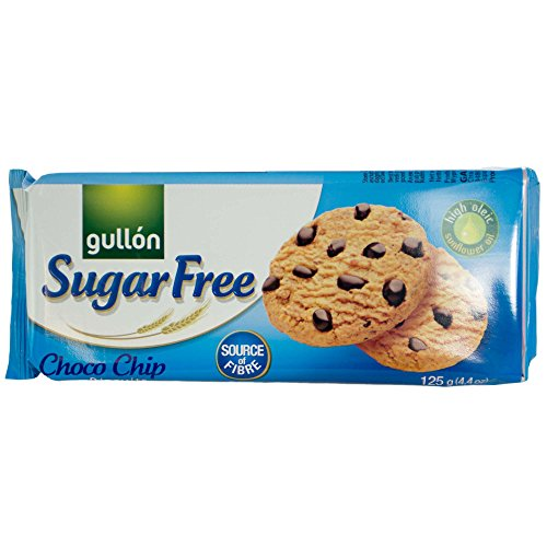 Gullòn | Sugar Free Choco Chip Biscuits | 4 x 125g | Pack of 4