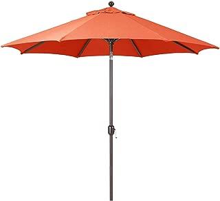 9-Foot Galtech (Model 737) Deluxe Auto-Tilt Umbrella with Antique Bronze Frame and Sunbrella Fabric Brick (Includes Extended Frame Warrantee)