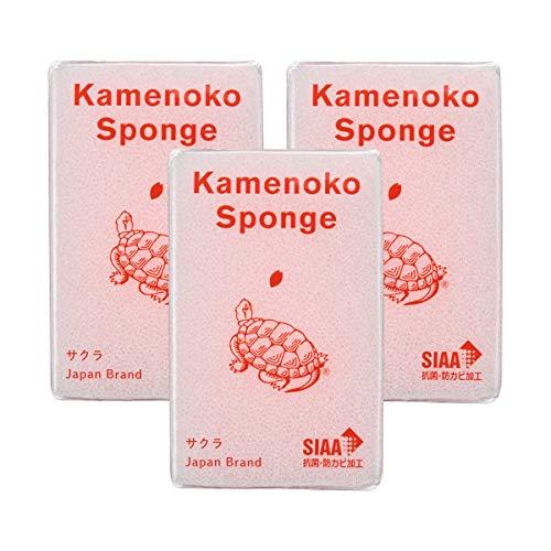 亀の子束子西尾商店 亀の子スポンジ サクラ 3個セット