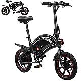 DYU Bicicletta elettrica pieghevole, 14 Pollici Portatile Smart City Bici Elettrica, 250W Motor 36V...